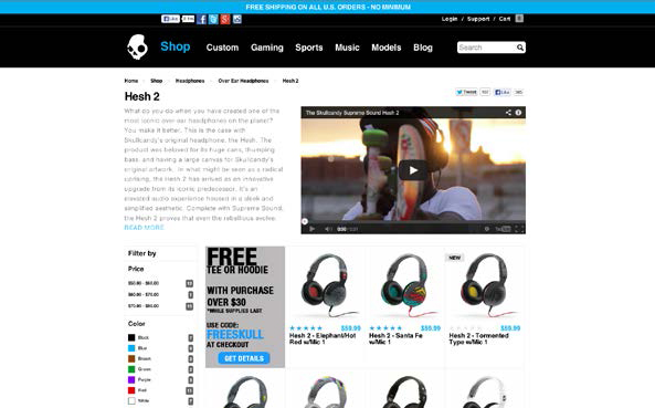 Skullcandy boosts sales with a new online channel.