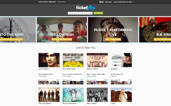 Ticketfly uses New Relic to analyze website performance by state or region.