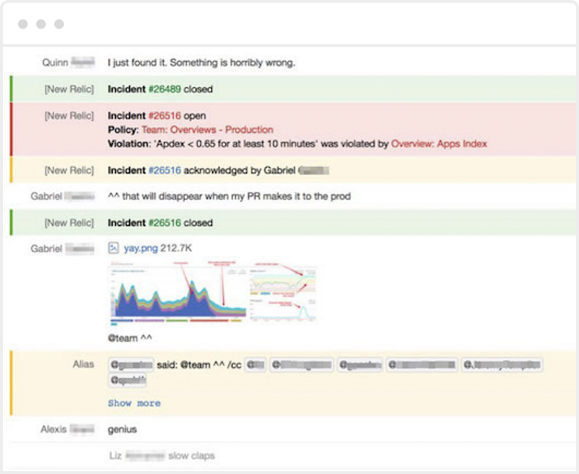Example of ChatOps using HipChat and New Relic Alerts.